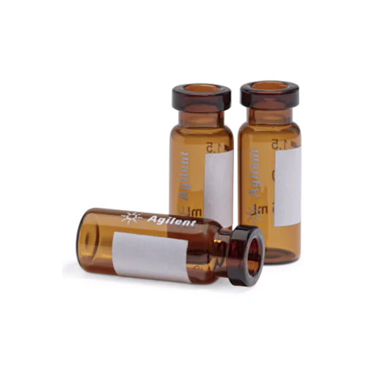 2mL Amber Certified Crimp Vial with Write-on Spot, 100pk