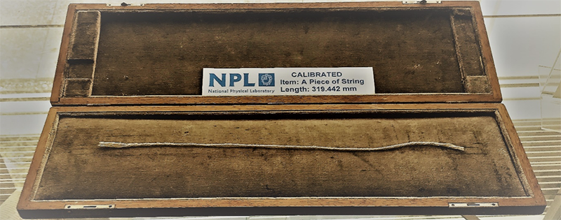 A calibrated piece of string. National Physical Laboratory, Teddington
